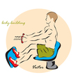 Body-building vector image vector image