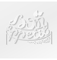 Bon Appetit paper hand lettering White text on vector image
