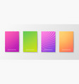 bright colorful posters set vector image vector image