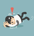 businessman falling vector image vector image