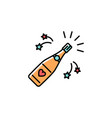 champagne bottle colorful icon champagne bottle vector image vector image