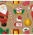 Christmas sale set pattern vector image vector image