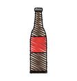 color crayon stripe cartoon bottle glass of beer vector image vector image