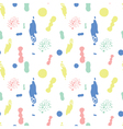 Colorful spot seamless pattern vector image