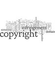 copyright infringement vector image vector image