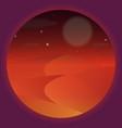 desert night starry night on the desert vector image vector image