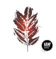 design leaf retro stamp vector image vector image
