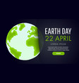 earth day save the earth concept vector image