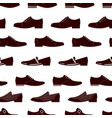 elegance footwear seamless pattern male boots vector image vector image