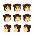 face emotion cartoon vector image