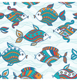 Fish pattern in abstract style Copy square to the vector image vector image