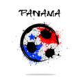 flag of panama as an abstract soccer ball vector image vector image