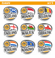 flags of european national basketball teams vector image vector image