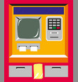flat design atm machine entered pinusing vector image