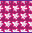 flower seamless pattern bright pink colors vector image
