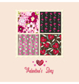 flowers card valentines day vector image