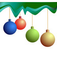 four festive christmas balls vector image