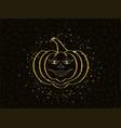 golden glittering pumpkin with dust vector image vector image