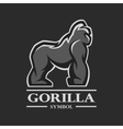 Gorilla symbol logo and other design vector image vector image
