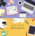 Graphic Design workspace vector image