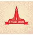 Hallgrimskirkja The symbol of Reykjavik Iceland vector image vector image