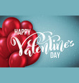 happy valentines day card template poster vector image vector image