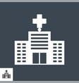 hospital related glyph icon vector image vector image