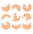 isolated abstract orange and white logo set of vector image vector image