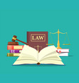 law and justice set icon vector image vector image