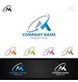 letter m for digital logo marketing financial vector image vector image