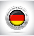 made in germany flag metal icon vector image vector image