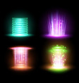magic yellow portal and hologram ray beam vector image vector image
