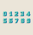 modern numbers 3d great design for any purposes vector image vector image