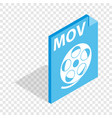 mov video file extension isometric icon vector image