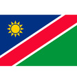namibian flag vector image vector image