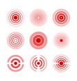 pain red rings to mark painful woman and man body vector image vector image