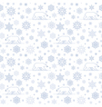 pattern snow polarbear white vector image