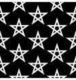 Pentagram button seamless pattern vector image