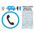 Phone Icon with 1000 Medical Business Pictograms vector image vector image