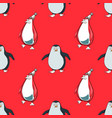 pinguins seamless pattern vector image vector image