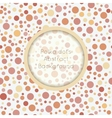 Polka dot seamless pattern with place for text vector image