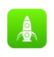 rocket icon digital green vector image vector image