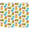 Seamless Pattern with Gift Boxes Isolated on Beige vector image