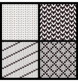 set four seamless knitting patterns vector image