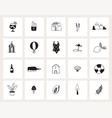 set hand drawn doodle web icons line art vector image