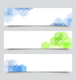 set medical banners or website headers eps 10 vector image