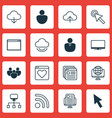 set of 16 web icons includes blog page team vector image vector image