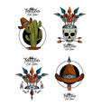 set of tattoo design emblems vector image