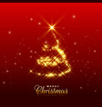 shiny sparkles christmas tree design vector image vector image