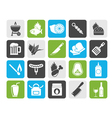 Silhouette Grill and Barbecue Icons vector image vector image